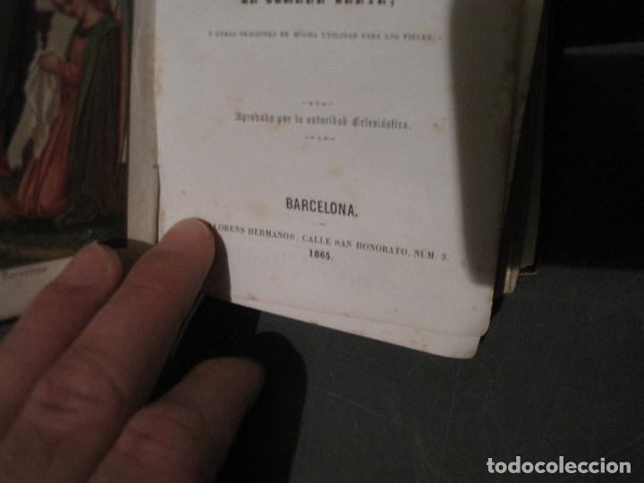 Libros antiguos: Luz divina. Devocionario. Llorens Barcelona 1865 - Foto 3 - 202500108