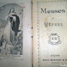 Libros antiguos: LIBRITO ECLESIÁSTICO CON FUNDA DE CUERO. Lote 204191558