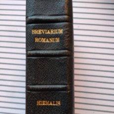 Libri antichi: BREVIARIUM ROMANUM JUXTA EDITIONEM TYPICAM. PARS HIEMALIS 1923. Lote 204514432