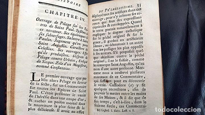Libros antiguos: AÑO 1767: HISTORIA DEL PELAGIANISMO. HEREJÍA. RARO LIBRO DEL SIGLO XVIII. - Foto 6 - 205175406