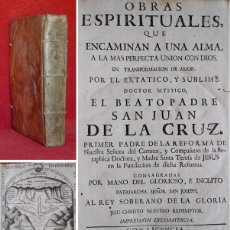 Libros antiguos: AÑO 1774 - 30 CM - OBRAS COMPLETAS DE SAN JUAN DE LA CRUZ - GRABADOS - IMPRESCINDIBLE. Lote 205204883