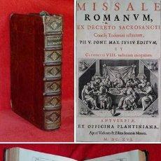 Libros antiguos: AÑO 1616 - 37 CM - PRECIOSO MISAL DE IGLESIA DE 4 KG DE PESO - PARTITURAS, ANTIFONARIO - GRABADOS. Lote 205591041