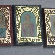 Libri antichi: LOTE DE 3 MISALIN MINIATURA , EDITORIAL REGINA, VER FOTOS. Lote 205787447
