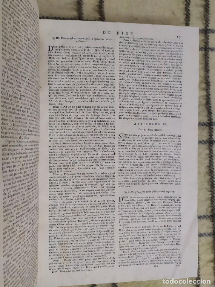 Libros antiguos: 1790. Summa S. Thomae sive cursus theologiae. Fr. Caroli Renati Billuart. Folio. Piel. - Foto 3 - 205819202