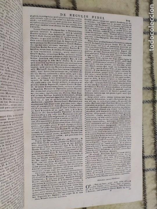 Libros antiguos: 1790. Summa S. Thomae sive cursus theologiae. Fr. Caroli Renati Billuart. Folio. Piel. - Foto 4 - 205819202