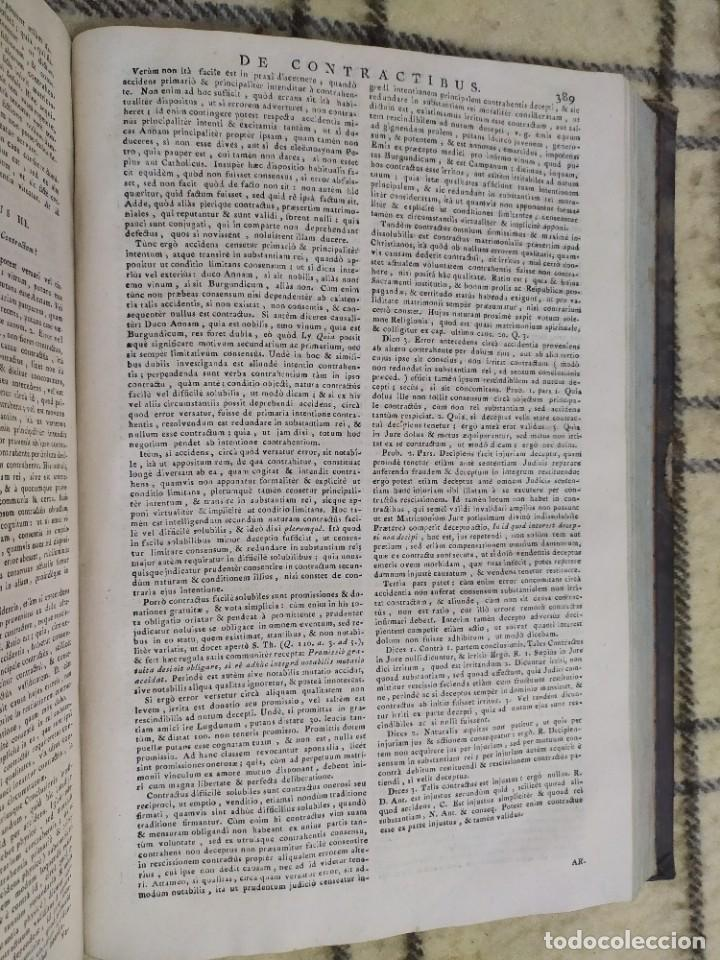 Libros antiguos: 1790. Summa S. Thomae sive cursus theologiae. Fr. Caroli Renati Billuart. Folio. Piel. - Foto 7 - 205819202