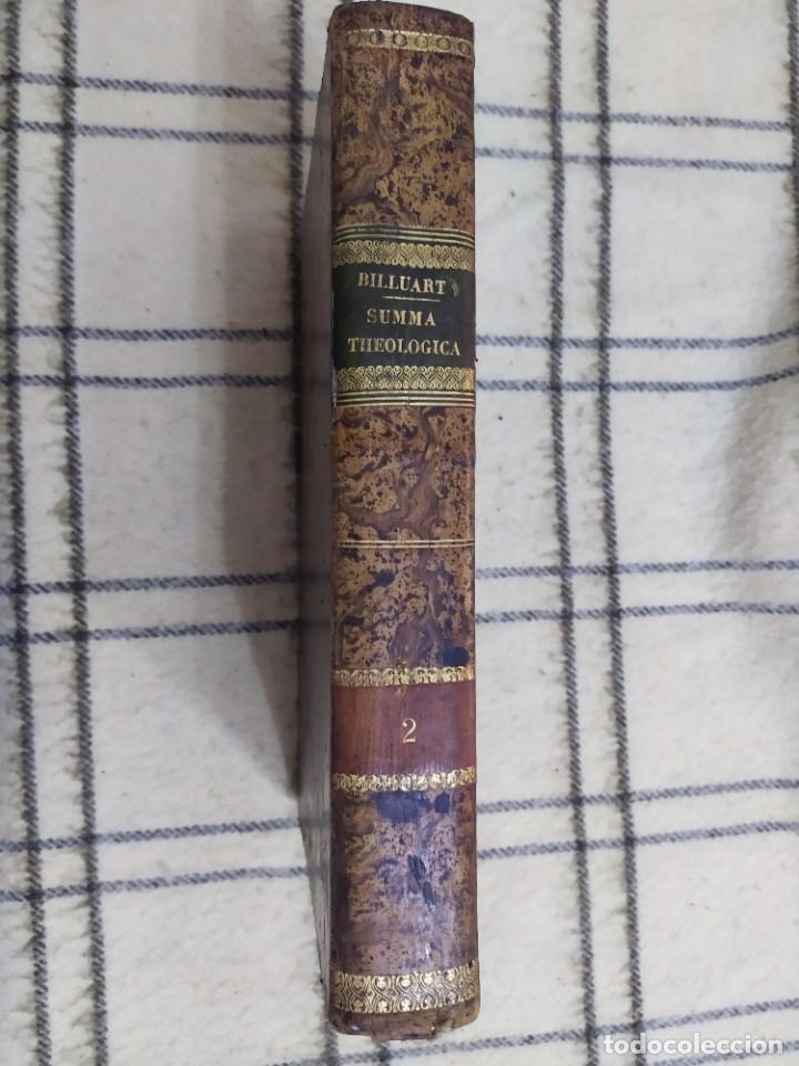Libros antiguos: 1790. Summa S. Thomae sive cursus theologiae. Fr. Caroli Renati Billuart. Folio. Piel. - Foto 10 - 205819202