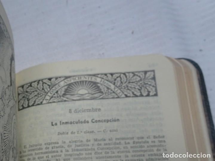 Libros antiguos: MISAL COTIDIANO DE LOS FIELES, P. ALFONSO Mª GUBIANAS O.S.B. 1943 BARCELONA, VER FOTOS - Foto 8 - 205831048