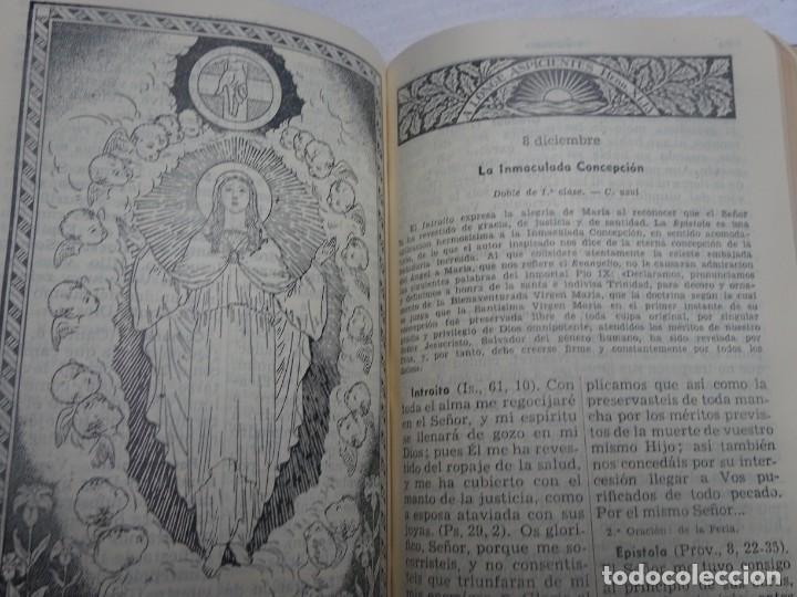 Libros antiguos: MISAL COTIDIANO DE LOS FIELES, P. ALFONSO Mª GUBIANAS O.S.B. 1943 BARCELONA, VER FOTOS - Foto 11 - 205831048