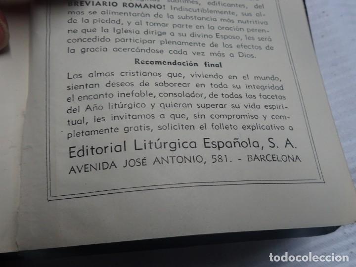 Libros antiguos: MISAL COTIDIANO DE LOS FIELES, P. ALFONSO Mª GUBIANAS O.S.B. 1943 BARCELONA, VER FOTOS - Foto 15 - 205831048