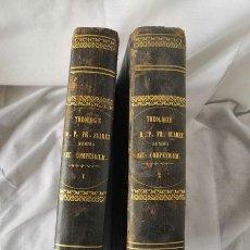 Libros antiguos: DOS TOMOS - THEOLOGIAE - SUMMA SEU COMPENDIUM - R.P.FR. SUAREZ - 1858 EN LATÍN. Lote 205832026