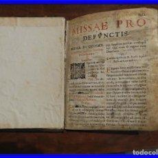 Libros antiguos: LIBRO MISAL DE DIFUNTOS S. XVII. Lote 205858927