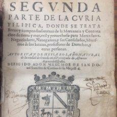 Livres anciens: SEGUNDA PARTE DE LA CURIA FILÍPICA. HEVIA BOLAÑO (1619). Lote 206186946