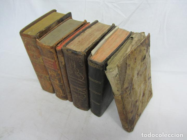 Libros antiguos: 6 Libros para decoración o atrezzo de temática religiosa. s.XIX - Foto 2 - 206975688