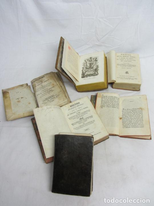 Libros antiguos: 6 Libros para decoración o atrezzo de temática religiosa. s.XIX - Foto 4 - 206975688