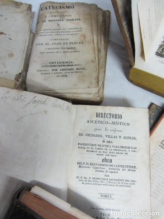 Libros antiguos: 6 Libros para decoración o atrezzo de temática religiosa. s.XIX - Foto 5 - 206975688