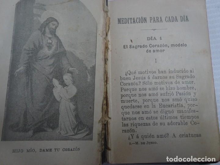 Libros antiguos: ANTIGUO LIBRO, MES DE JUNIO DEDICADO AL SAGRADO CORAZON DE JESUS ,1911 , VER FOTOS - Foto 2 - 207000358