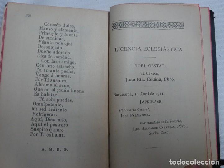 Libros antiguos: ANTIGUO LIBRO, MES DE JUNIO DEDICADO AL SAGRADO CORAZON DE JESUS ,1911 , VER FOTOS - Foto 6 - 207000358