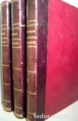 COMPTE RENDU CONGRÈS SCIENTIFIQUE INTERNATIONAL CATHOLIQUES (8 TOMOS 3 VOLÚMENES - COMPLETO) - 1891 (Libros Antiguos, Raros y Curiosos - Religión)