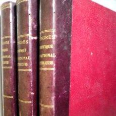 Libros antiguos: COMPTE RENDU CONGRÈS SCIENTIFIQUE INTERNATIONAL CATHOLIQUES (8 TOMOS 3 VOLÚMENES - COMPLETO) - 1891. Lote 207088685