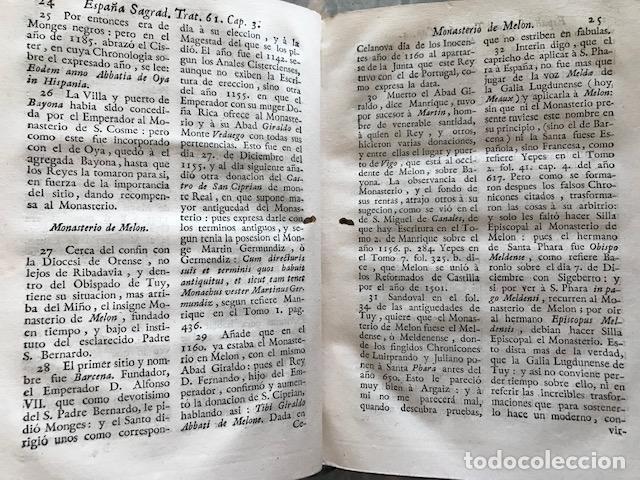 Libros antiguos: España sagrada, Theatro geopháfico-histórico,..Tomo XXII. Henrique Flórez - Foto 16 - 208042623