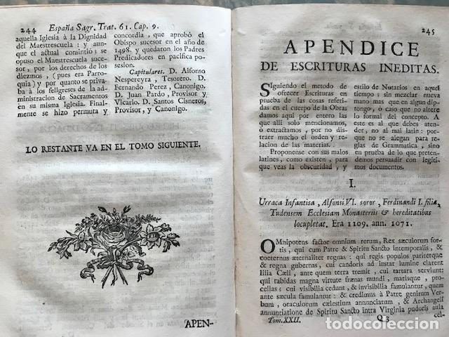 Libros antiguos: España sagrada, Theatro geopháfico-histórico,..Tomo XXII. Henrique Flórez - Foto 18 - 208042623