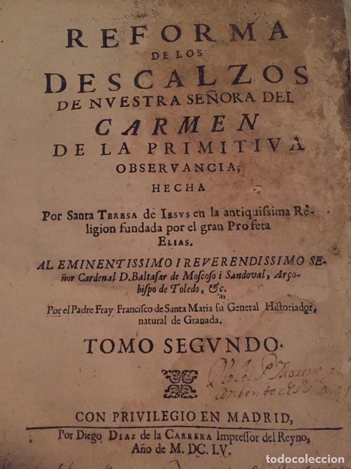 REFORMA DE LOS DESCALZOS. (1655) *T2* (Libros Antiguos, Raros y Curiosos - Religión)
