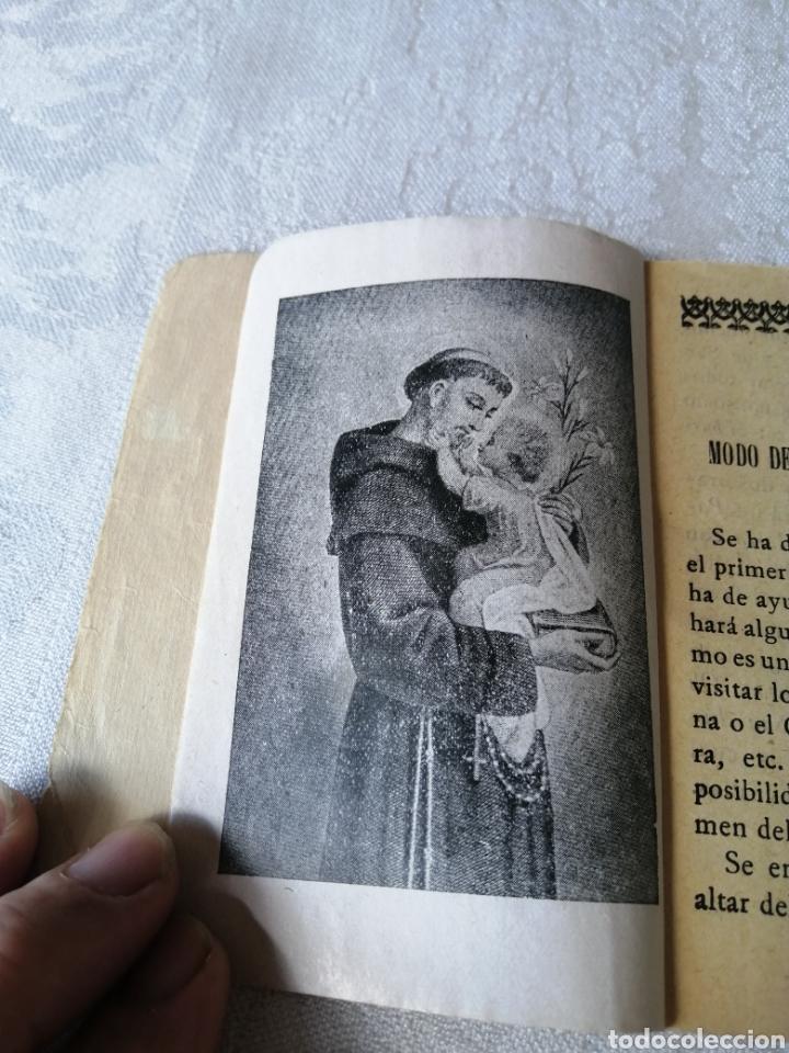 Libros antiguos: NOVENA AL GLORIOSO SAN ANTONIO DE PADUA. 1923. LIBRERÍA RELIGIOSA HERNANDEZ. - Foto 3 - 208148185