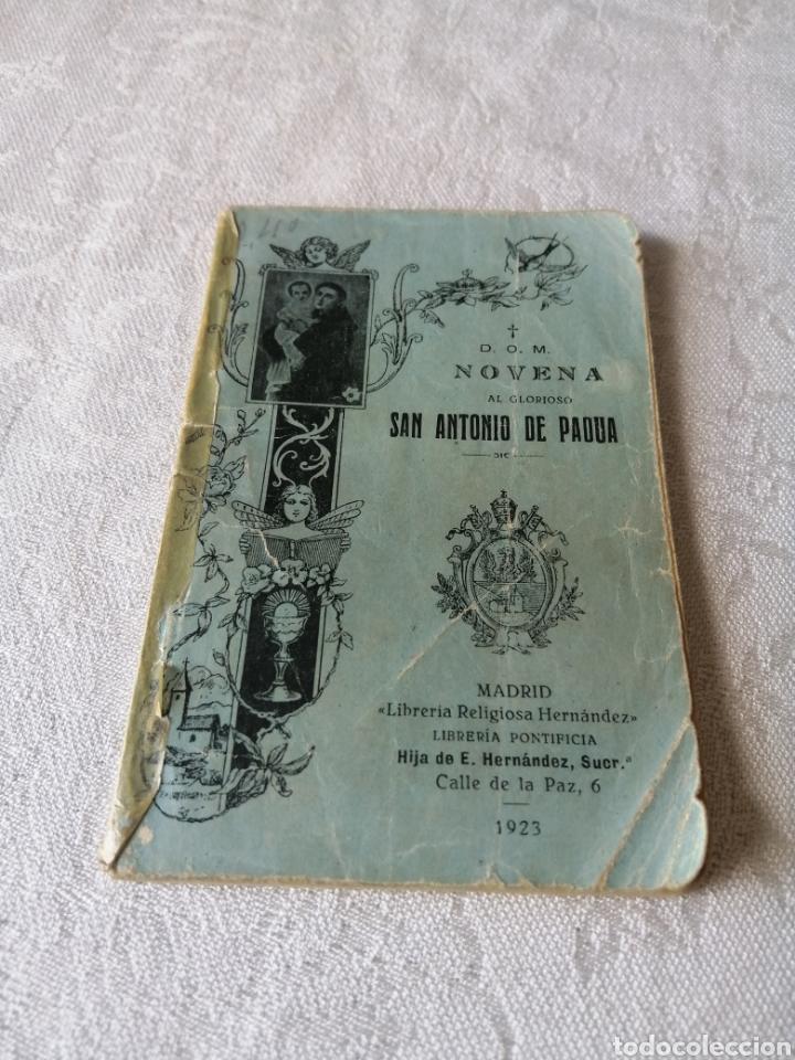 NOVENA AL GLORIOSO SAN ANTONIO DE PADUA. 1923. LIBRERÍA RELIGIOSA HERNANDEZ. (Libros Antiguos, Raros y Curiosos - Religión)
