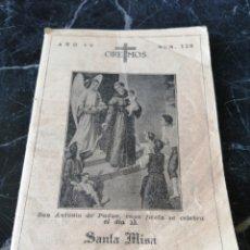 Libros antiguos: OREMOS. N°128. SANTA MISA. 1935.. Lote 208280448