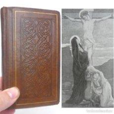 Libros antiguos: 1923 - BONITO MISAL ROMANO ENCUADERNADO EN PIEL GOFRADA - LÁMINAS - PAPEL BIBLIA - RELIGIÓN. Lote 229664865