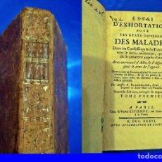 Libri antichi: AÑO 1736: EXHORTACIONES SOBRE LAS DIFERENTES ENFERMEDADES.. Lote 209139006