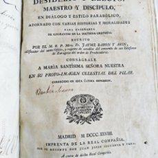 Libros antiguos: BARÓN ARÍN FR. J SASNO OFICIO LUZ DE LA FE Y DE LA LEY. VIRGEN PILAR MADRID 1828 TAPAS PERAMINO. Lote 209169126