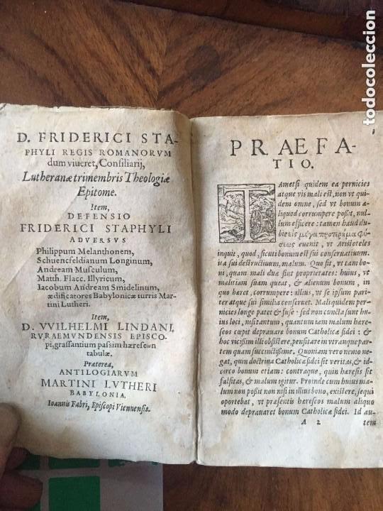 Libros antiguos: 1579 - De M. Luteri (Lutero) et aliorum sectariorum doctrinae. Colonia - Foto 4 - 209218463