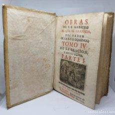 Libros antiguos: LIBRO CUBIERTAS EN CABRITILLA,OBRAS DEL V. P. MAESTRO FR. LUIS DE GRANADA,1711. Lote 209561651