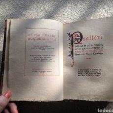 Libros antiguos: EL PSALTERI DE ROIÇ DE CORELLA. EDICIÓN GOTICA DE OCTAVI VIADER - 1928.. Lote 209609192