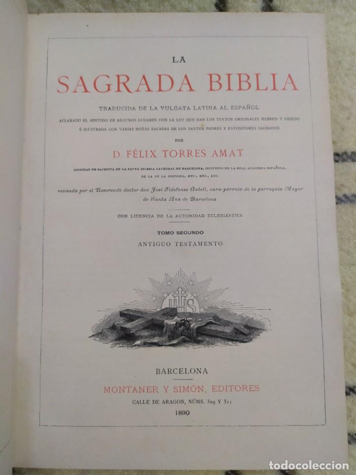 1890. LA SAGRADA BIBLIA. MONTANER Y SIMÓN. (Libros Antiguos, Raros y Curiosos - Religión)