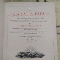 Libros antiguos: 1890. LA SAGRADA BIBLIA. MONTANER Y SIMÓN.. Lote 210068360