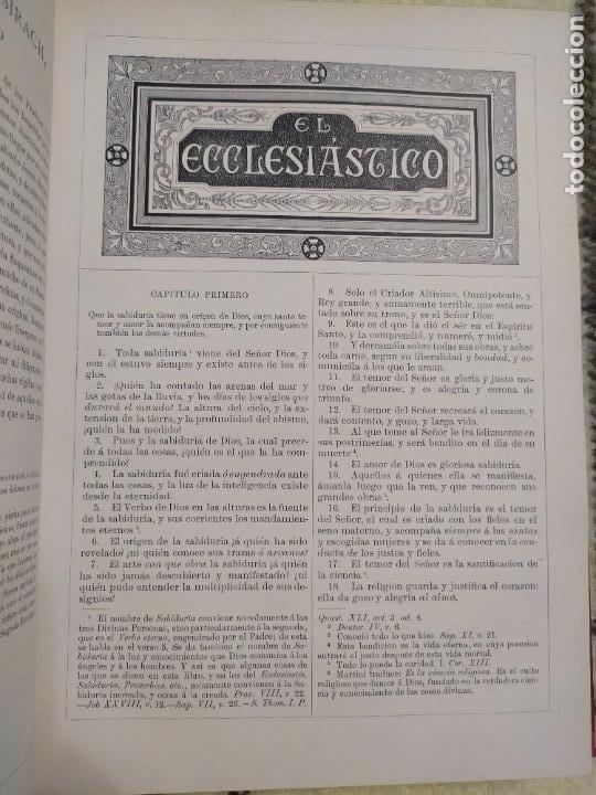 Libros antiguos: 1890. La Sagrada Biblia. Montaner y Simón. - Foto 6 - 210068360
