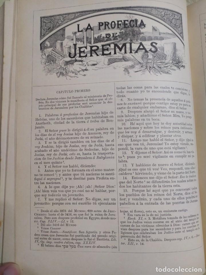 Libros antiguos: 1890. La Sagrada Biblia. Montaner y Simón. - Foto 8 - 210068360
