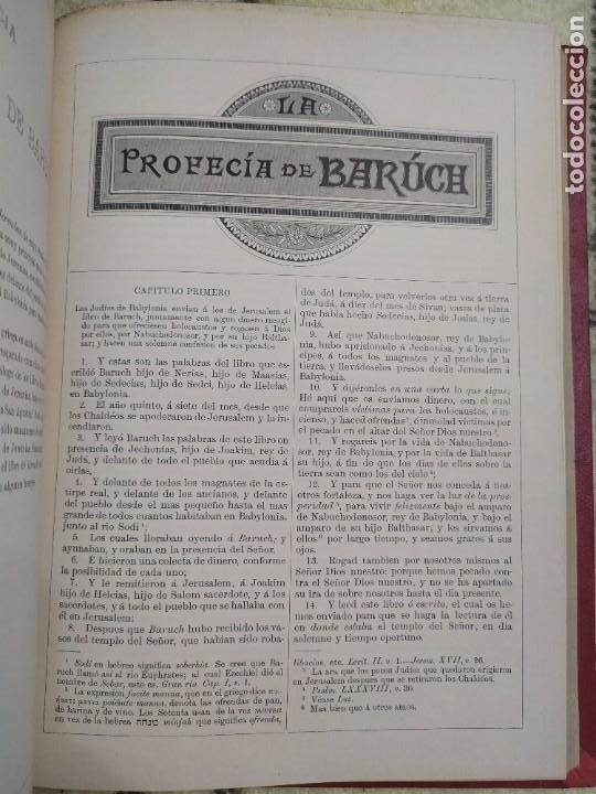 Libros antiguos: 1890. La Sagrada Biblia. Montaner y Simón. - Foto 10 - 210068360