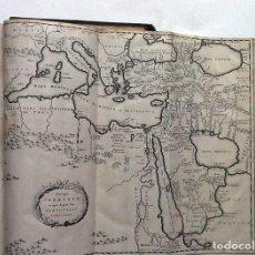 Libros antiguos: AÑO 1708: JOHANES CLERICUS. VOLUMINOSO LIBRO DEL SIGLO XVIII CON MAPAS DESPLEGABLES. 32 CM.. Lote 210193652