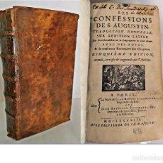 Libros antiguos: AÑO 1693: LAS CONFESIONES DE SAN AGUSTÍN.. Lote 210744540