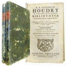 Libros antiguos: 1767 - 5 VOLÚMENES EN 2 TOMOS - HOUDRY COMPLECTENS PANEGYRICAS ORATIONES SANCTORUM. Lote 211461516