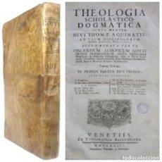 Libros antiguos: 1793. SOBRE LOS ANGELES, LA CREACIÓN, EL PARAÍSO TERRENAL - GRAN FOLIO TEOLOGÍA - 38 CM. PERGAMINO. Lote 211465602