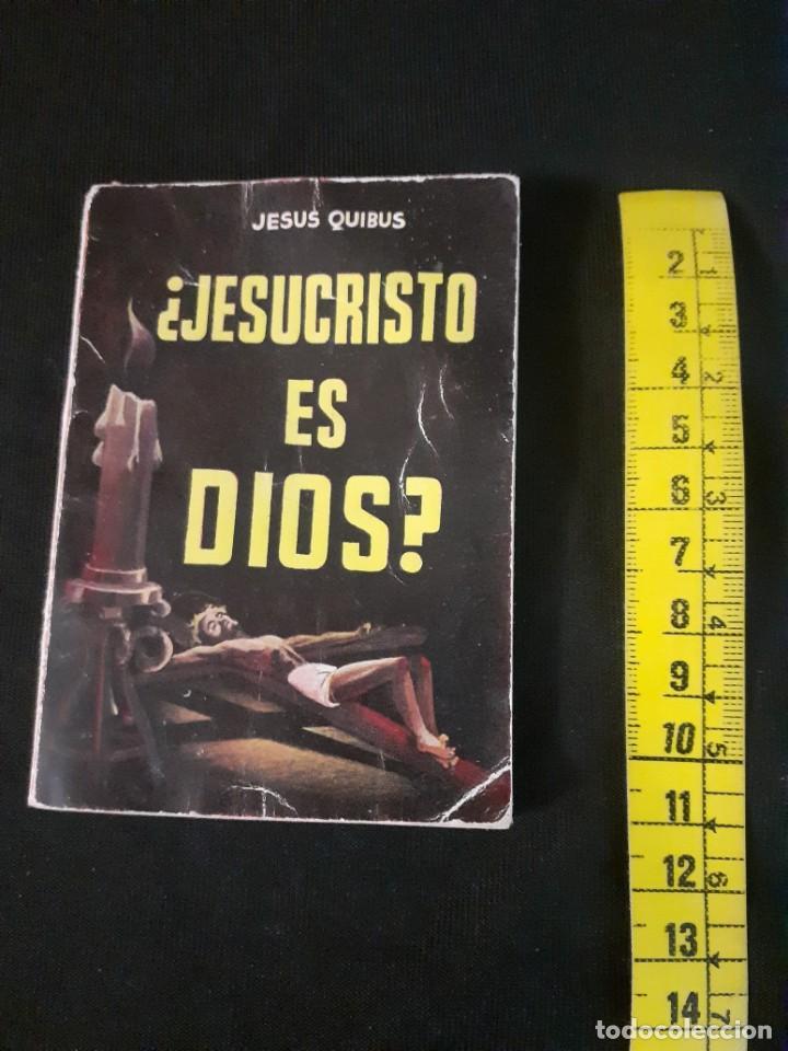 Libros antiguos: Libro de jesus Quibus¿Jesucristo es dios?enciclopedia pulga - Foto 2 - 212040430