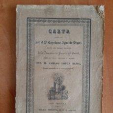 Libros antiguos: 1832 SOBRE LA VIDA DEL R. CARLOS LÓPEZ ALDA - P. CAYETANO IGNACIO SEGUI. Lote 212140868
