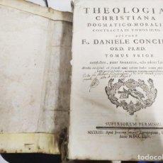 Libros antiguos: THEOLOGIA CHRISTIANA DOGMATICO-MORALIS EN DOS TOMOS. FR. DANIELE CONCINA . 1764 . UNA JOYA!!. Lote 212428635