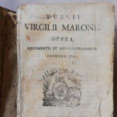 Libros antiguos: PUBLII VIRGILI MARONIS, OPERA ~1792 - SIGLO XVIII~ VALENTIAE,TYPIS SALVATORE FAULI BIBLIOPOLAE- PJRB. Lote 213113607