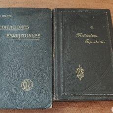 Libros antiguos: MEDITACIONES ESPIRITUALES, TOMO II, 1893 Y III, 1900, LA PUENTE, VER, ÚNICOS. Lote 213135433